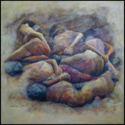 Hussein Habasch gedicht Wenen schilderij Rabee Kiwan